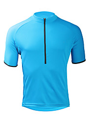 cheap -ILPALADINO Men's Short Sleeve Cycling Jersey Sky Blue Bike Jersey Top Road Bike Cycling UV Resistant Moisture Wicking Quick Dry Sports Elastane Terylene Clothing Apparel