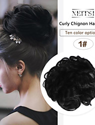 cheap -Headpiece / Hair Accessory / chignons Casual / Daily / Loose Curl Hair Bun Women / Synthetic / Adorable Synthetic Hair Hair Piece Hair Extension Casual / Daily / Loose Curl Medium Brown / Chestnut