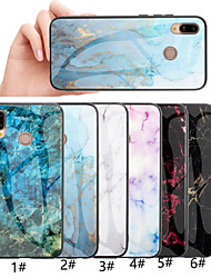 cheap -Phone Case For Huawei Back Cover Huawei Honor 10 Honor 10 Lite Honor 9 Huawei Honor 8X Huawei Honor 8A Pattern Marble Hard Tempered Glass