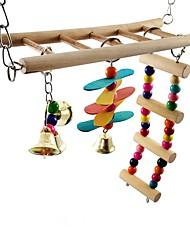 cheap -Bird Perches & Ladders Pet Friendly Focus Toy Felt / Fabric Toys Bird Wood Metal 25 cm