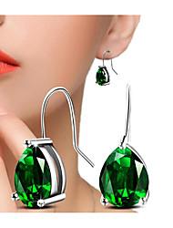 cheap -Women's Cubic Zirconia Earrings Pear Cut Prayer Fashion Imitation Diamond Earrings Jewelry Green / Gold / White For Gift Daily 1 Pair