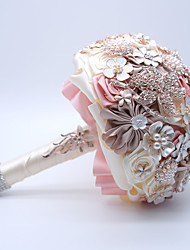 "cheap -Wedding Flowers Bouquets Wedding / Wedding Party Ribbon / Crystal / Rhinestone / Polyester 10.63""(Approx.27cm)"
