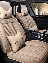 cheap -Car Seat Covers Headrest & Waist Cushion Kits Beige / Coffee / Blue Leather Sports For universal