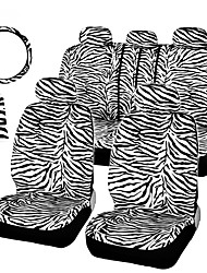 cheap -12PCS/Set Luxury Zebra Pattern Car Seat Cover 1 steering wheel cover / 2 shoulder cover / 2 front seat cover / 1 rear / 1 rear seat cover / 5 pillowcase