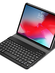 cheap -IPad Pro 11 Bluetooth Keyboard with Magnetic Smart Case PU Cover Trifold Stand