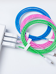 cheap -1m Streamer data line for Apple Type-C Android phone charging line LED light data cable
