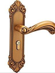 cheap -European antique lock indoor door lock vintage yellow ancient bedroom wooden door handle lock mechanical door lock