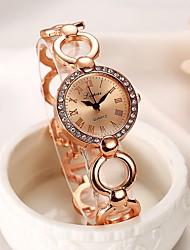 cheap -Women's Bracelet Watch Cubic Zirconia Casual Elegant Silver Rose Gold Alloy Quartz Rose Gold Silver Casual Watch Imitation Diamond 1 pc Analog One Year Battery Life