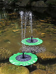 cheap -Solar Power Lotus Leaf Fountain Decorative Floating Submersible Water Pump for Garden Pool