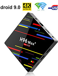 Недорогие -h96 max TV Box Android 9.0 4 ГБ оперативной памяти 64 ГБ Rockchip RK3328 H.265 4K YouTube NetFlix Google Play Smart TV Box