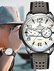 cheap -Men's Sport Watch Quartz Modern Style Stylish Leather Black / Brown / Grey 30 m Chronograph Creative Luminous Analog Sparkle Minimalist - Brown Black / Blue Black / Gray Two Years Battery Life