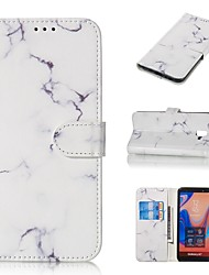 cheap -Case For Samsung Galaxy J3 (2017) / J5 (2017) Magnetic / Flip / with Stand Full Body Cases Flower / Marble Hard PU Leather for Galaxy J4 Plus(2018)/J6 Plus(2018)/J3/J310/J7/J710/J5/J510