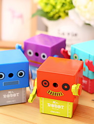 cheap -1pc Random Color Manual Pencil Sharpener Cute Robot Cartoon Pattern Office School Supplies
