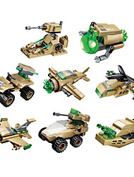 cheap -Building Blocks Military Blocks Vehicle Playset 1 pcs compatible Legoing Hand-made Police car Helicopter All Toy Gift / Educational Toy