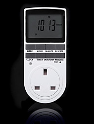 cheap -Electronic Digital Timer Switch 24 Hour Cyclic UK Plug Kitchen Timer Outlet Programmable Timing Socket 220V