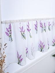 Недорогие -Цветы Semi-Sheer 1 панель Занавес Спальня   Curtains