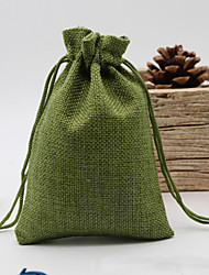 cheap -Linen Bag Drawstring Wedding&Christmas Packaging Pouchs & Gift Bags Small Jewelry Sachet &Mini Jute bags 10pcs/lot