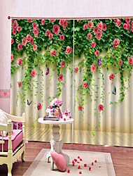 cheap -British Perforation-free 3D Print Waterproof Light-proof And Dust-proof Pure Polyester Curtain Bedroom Office Sound-proof Curtain