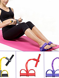 cheap -Pedal Resistance Band Sit-up Pull Rope 1 pcs Carry Bag Sports Home Workout Yoga Pilates Strength Training Muscular Bodyweight Training Physical Therapy Stretching For Women's Waist Upper Arm Wrist