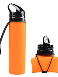 Недорогие -складная бутылка для воды, силиконовая складная с пищевым силиконом
