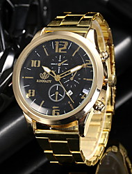 cheap -Men's Dress Watch Quartz Casual Watch Analog Casual - Black Gold