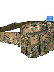 cheap -Unisex Bags Nylon Fanny Pack Zipper Solid Color Bum Bag Outdoor Camouflage Yellow Jungle digital color Jungle digital yellow Black