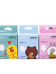 abordables -Coton pour Maquillage Éponges de maquillage Mignon / Couvercle à ouverture simple / Facile à transporter Maquillage 1 pcs Éponge Carré Soin / Nettoyage / Maquillage simple / Décontracté / Quotidien
