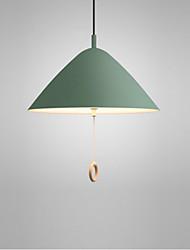 Недорогие -одноместные подвесные светильники подвесные светильники потолочные светильники окрашенные металлические светильники для гостиной столовой