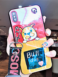 cheap -Case For Apple iPhone XS / iPhone XR / iPhone XS Max Dustproof / with Stand / Pattern Back Cover Dog / Cartoon TPU