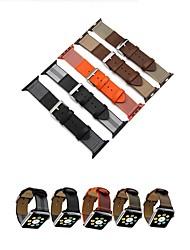 Недорогие -Чехол с ремешком Назначение Apple Watch Series 4/3/2/1 Настоящая кожа / Ткань Совместимость Apple