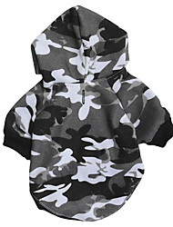 cheap -Dogs Hoodie Sweatshirt Dog Clothes Black Costume Dalmatian Corgi Beagle Fabric Fleece Camouflage Simple Style Casual / Sporty XS S M L