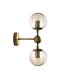 cheap -Glass Wall Lamp Modern Fashion 2 Lights Wall Sconces Globe Shade Nordic Night Light Reading Light Wall Mount Bronze Finish