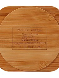 cheap -Fashion Creative Bamboo Wood Charging Stand Wireless Qi Charger for iPhone Samsung HTC Huawei-SQUARE