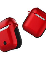 Недорогие -для Apple Airpods чехол для Bluetooth-гарнитура беспроводные наушники антидетонационные глянцевая защитная крышка для воздушных коробок зарядки коробка