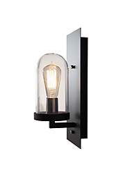 cheap -American Retro Metal Wall Light Fixture Industrial Retro Wall Lamp Glass Shade Black Finish Wall Sconce for Bar Caf Hallway Warehouse