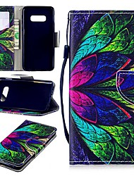 cheap -Case For Samsung Galaxy S9 / S9 Plus / S8 Plus Wallet / Card Holder / Shockproof Full Body Cases Flower Hard PU Leather