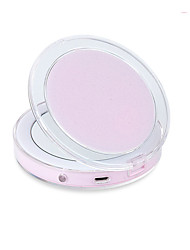 cheap -Cosmetic Mirrors Foldable / Professional / LED Light Makeup 1 pcs Rose Gold / ABS Round Nursing / General use Contemporary / Fashion Performance / Date / Holiday Daily Makeup Portable Casual / Daily