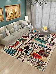 Недорогие -Dongguan pho_08x3 Северная Америка, страна, гостиная, спальня, ковер, современный минималистский напольный коврик, офис, полное прикроватное одеяло 80x120cm_Europe Retro 1820 #