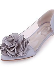 cheap -Women's Flats Flat Heel Satin Spring & Summer Black / Pink / Silver