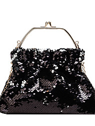cheap -Women's Glitter Silk Evening Bag Solid Color Black / Gold / Silver