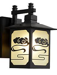 cheap -Black Outdoor Wall Lights Waterproof / 1pc E26/E27 Warm White Bulb Include for Outdoor Lighting / Courtyard / Garden / 220-240V / 110-120V