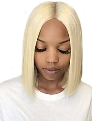 cheap -Human Hair Lace Front Wig Middle Part style Brazilian Hair Straight Blonde Wig 130% 150% 180% Density Women Women's Short Human Hair Lace Wig Clytie