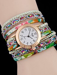 cheap -Women's Necklace Watch Quartz Leather Casual Watch Analog Fashion - Black White Light Green