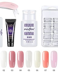 cheap -Polygel Kit With UV LED Lamp Nail Extension Builder Gel Full Cover Nail Tips,Brush, File, Poly Gel Colors Gel and Liquid Polygel Nail Builder Kit