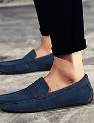 cheap -Men's Loafers & Slip-Ons Suede Shoes Comfort Shoes Drive Shoes Casual Daily Outdoor Suede Non-slipping Wear Proof Navy Blue Khaki Burgundy Fall Spring Summer / EU40
