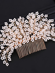cheap -Women's Fashion Bridal Imitation Pearl Alloy Hair Combs Wedding Party