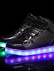 cheap -Boys USB Charging  LED / LED Shoes PU Sneakers Little Kids(4-7ys) / Big Kids(7years +) Black / Gold / Blue Fall / Rubber