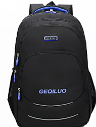 cheap -Large Capacity School Bag Unisex Oxford Cloth Zipper Solid Color Daily / Outdoor Black / Blue / Yellow