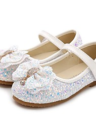 cheap -Girls' Comfort / Flower Girl Shoes Synthetics Flats Little Kids(4-7ys) / Big Kids(7years +) Bowknot / Sequin White / Pink / Light Pink Spring