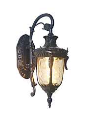 cheap -Vintage Metal Outdoor Wall Sconce Antique Bronze Metal Outdoor Wall Light with Glass Shade for Garden Yard Villa Hallway